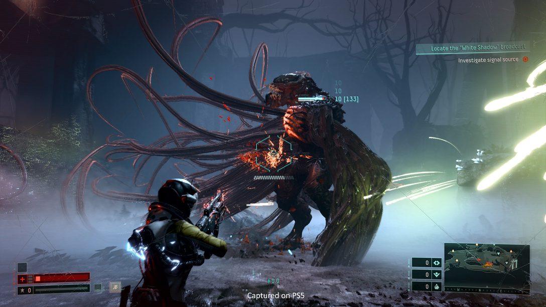 A experiência de usuário de Returnal: interface que destaca o gameplay, tecnologia futurista industrial, acessibilidade e mais