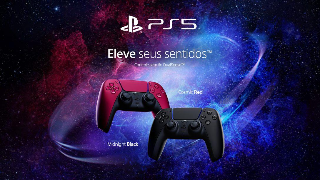 Duas novas cores do controle sem fio DualSense chegam às prateleiras a partir do próximo mês