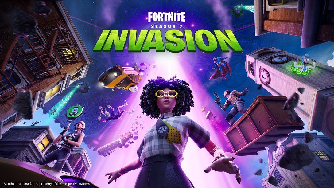 Lute no meio do caos cósmico em Fortnite Capítulo 2 Temporada 7: Invasão