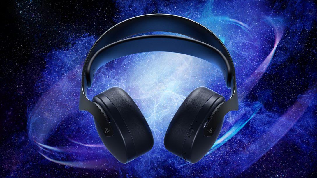 O headset sem fio Pulse 3D na cor Midnight Black chega em 22 de outubro