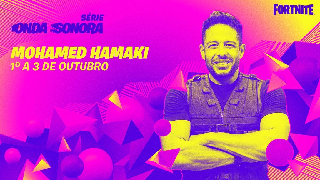 Hamaki entra no palco da Série Onda Sonora de Fortnite!